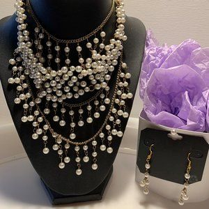 Jewelry - Wedding Bridal Necklace with Earrings.